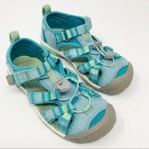KEEN Hiking Water Sandals Teal Mint Size 12